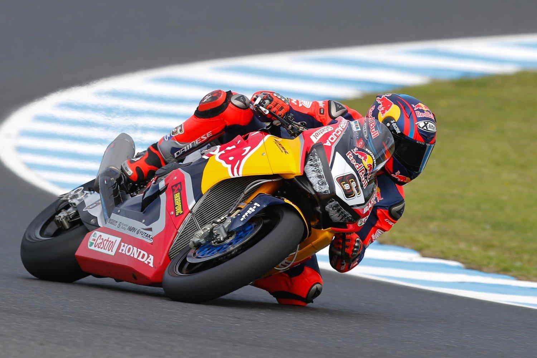 Stefan Bradl vom Red Bull Honda World Superbike Team