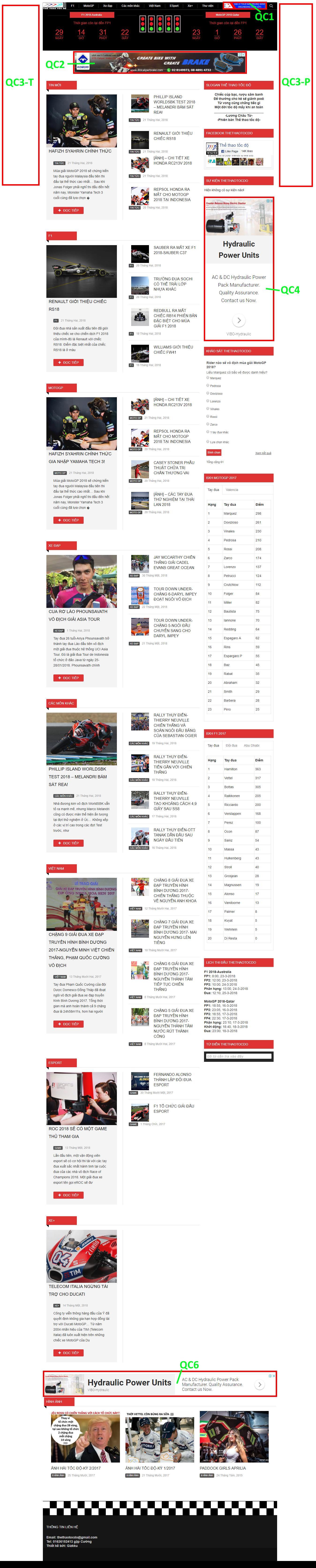 Thể thao tốc độ Trang tin về các môn đua xe tốc độ đầu tiên và số một ở VIệt Nam