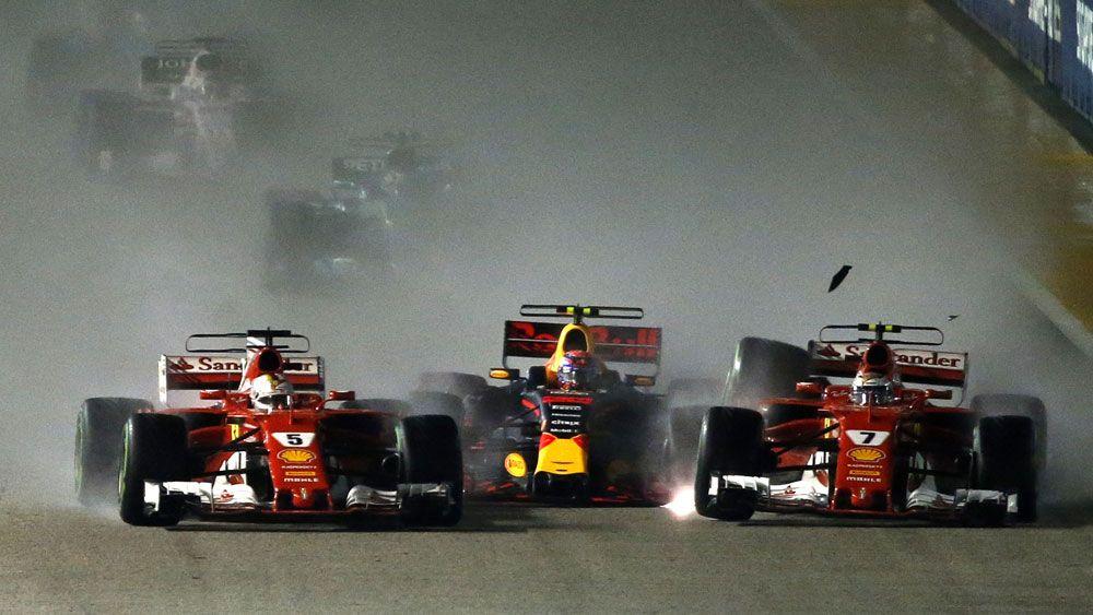 Tai nạn của Vettel, Raikkonen và Verstappen ở Singapore 2017