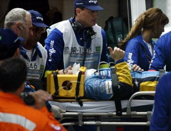 Alonso phải nhập viện ở Brasil 2003