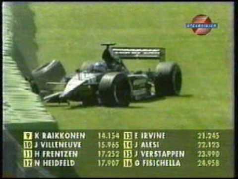 Alonso tông rào ở San Marino 2001