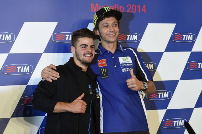 Rossi và Fenati ở Mugello 2014
