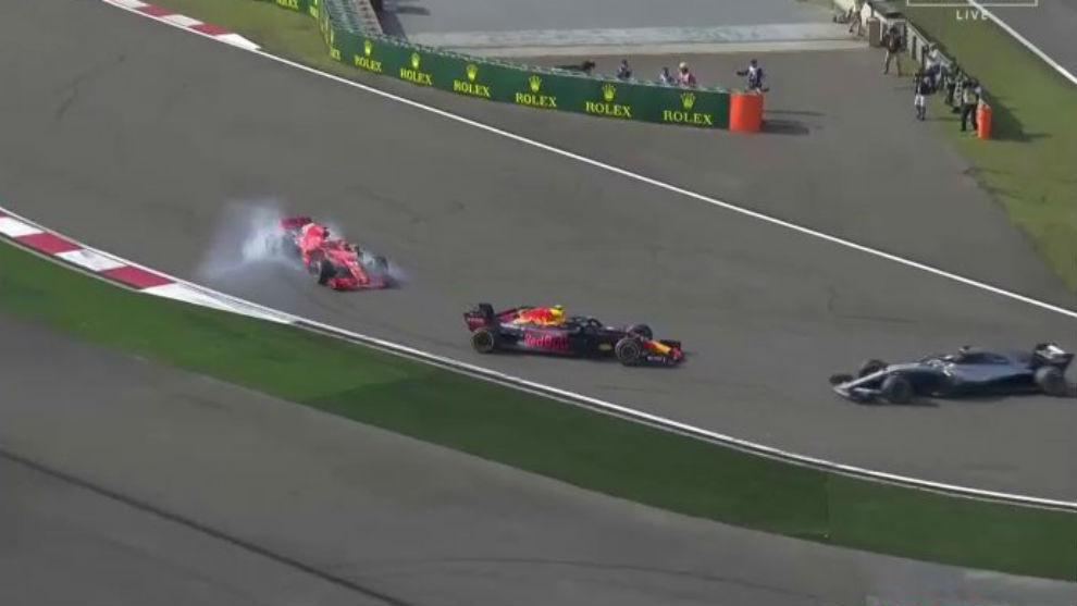 Verstappen tông Vettel ở Trung Quốc GP 2018