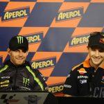 Cal Crutchlow và Jonathan Rea trước MotoGP San Marino 2012