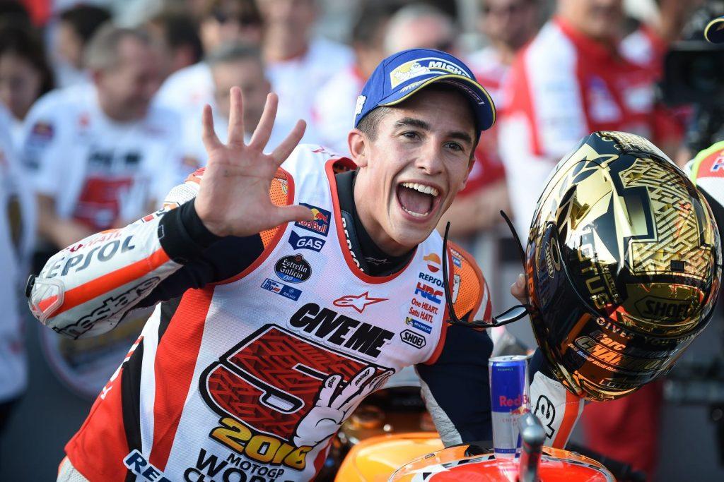 Marc Marquez đón chức vô địch 2016 ở Motegi
