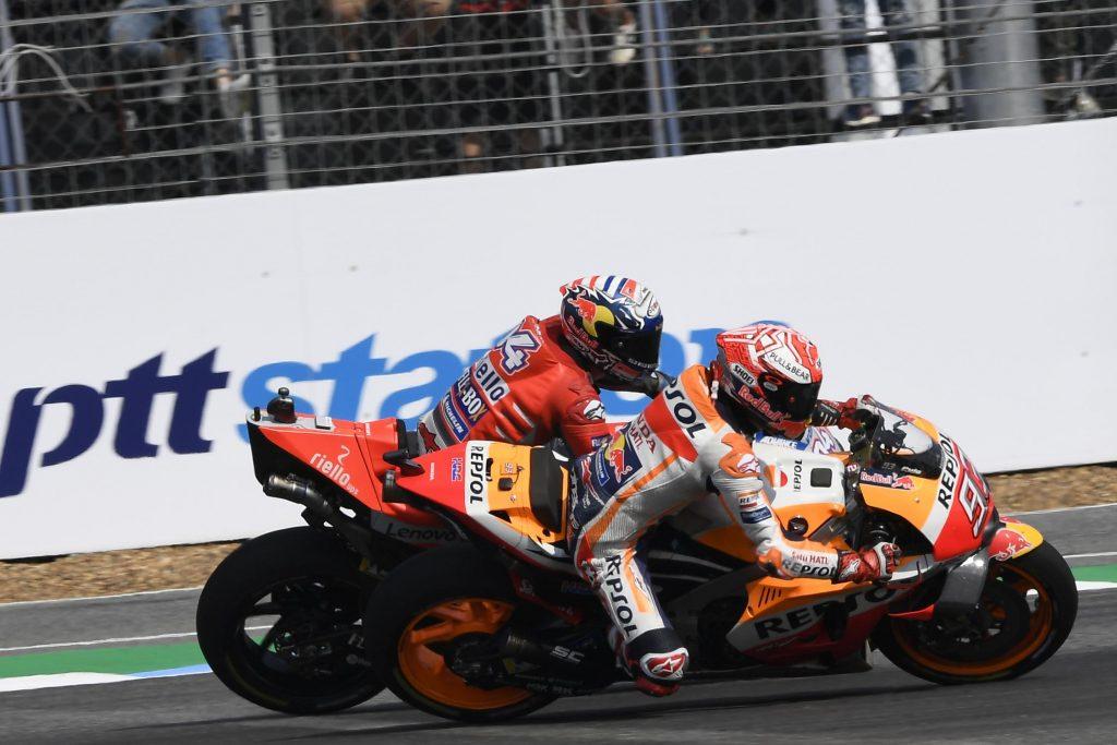 Marquez sẽ cố vượt qua đối thủ như ở Thái Lan?